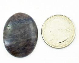 Genuine 38.00 cts Iolite Oval shape Cabochon