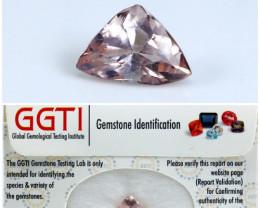 GGTI-Certified-1.80 ct Peach Morganite Gemstone Natural