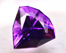 Amethyst 10.10Ct Natural Uruguay VVS Electric Purple Amethyst D1209