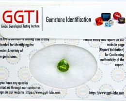 GGTI-Certified-1.85 ct Green Peridot Gemstone Natural