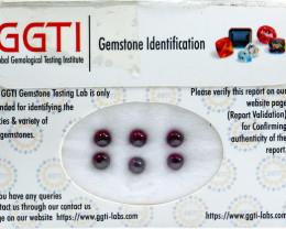 GGTI-Certified-4.35 ct Red Garnet Cabochon Gemstone Natural