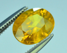 Top Clarity & Color 2.20 ct Rarest Yellow Sapphire~Sri Lanka