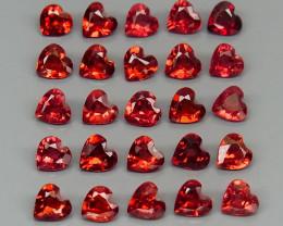 7.70 ct. Natural Hot Red Rhodolite Garnet Africa - 25 Pcs