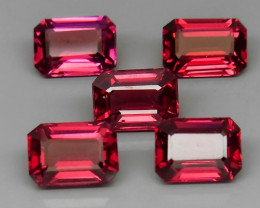 6.22 ct. Natural Pink  Rhodolite Garnet Africa - 5 Pcs