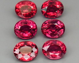 6.87 ct. Natural Pink  Rhodolite Garnet Africa - 6 Pcs