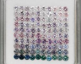 8.03 Ct. Natural Rich Multi Color Diamond cut Spinel Mogok, Burma - 100 ps