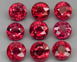 6.59  ct. Natural Pink  Rhodolite Garnet Africa - 9 Pcs