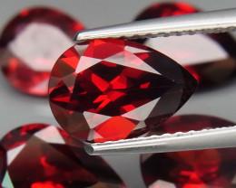10.43 ct. Natural Hot Red Rhodolite Garnet Africa - 5 Pcs