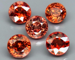 7.03 Ct. Natural Rich Orange  Zircon Cambodia - 5ps