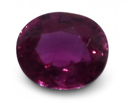 0.34 ct  Oval Ruby
