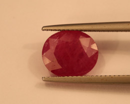 **No Reserve** 5ct Oval-Cut Ruby