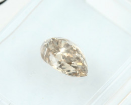 0.90ct Natural Fancy Yellowish Brown Diamond GIA certified