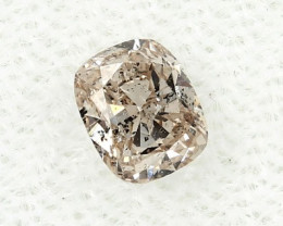 0.38ct Natural Fancy Pink Brown  Diamond GIA certified