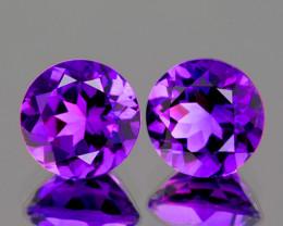 6.00 mm Round 2 pcs 1.54cts Purple Amethyst [VVS]