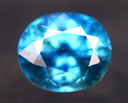 Blue Sapphire 1.04Ct Natural Madagascar Vivid Blue Sapphire AN72