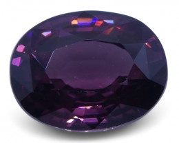 4.42 ct Purplish Pink Zircon Oval Extremely Fine Quality-$1 No Reserve Auct