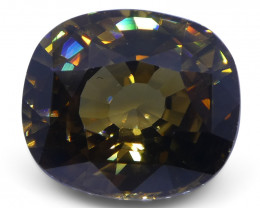5.79 ct Orangy Yellow Zircon Cushion Extremely Fine Quality