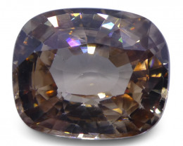 3.92 ct pinkish Orange Zircon Cushion Extremely Fine Quality-$1 Auction