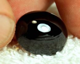 24.23 Carat Black Spinel Cabochon - Impressive Gem
