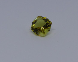 Scapolite Golden Yellow Square Cut Gemstone