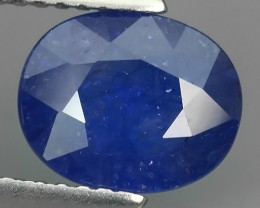 2.20 Cts Natural Intense Beautiful Blue Sapphire oval Shape From MADAGASCAR
