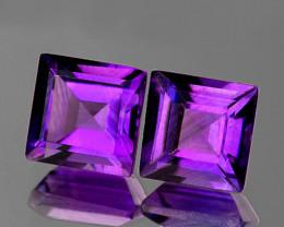 6.00 mm Square 2 pcs 2.30cts Purple Amethyst [VVS]
