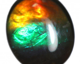 1.262 CTS  9x7 MM  AMMOLITE TRIPLET 3 COLOURS SEE VIDEO [STS1699]