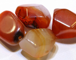 84  CTS CARNELIAN BEAD DRILLED AMAZING PATTERN   ADG-278