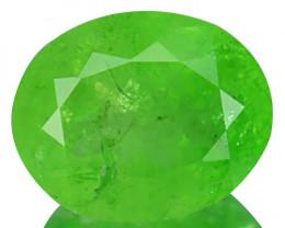 0.98 Cts Natural Radium Green Grossular Garnet Oval Cut Russia