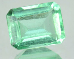 Natural Vivid Green Emerald Baguette Cut Colombia 0.31 Cts