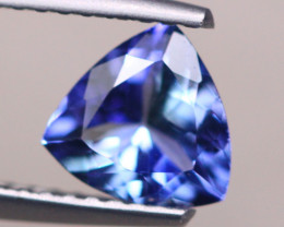 0.90ct Natural Violet Blue Tanzanite Trillion Cut Lot D490