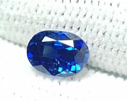 CERTIFIED 1.10 CTS NATURAL STUNNING ROYAL BLUE SAPPHIRE SRI LANKA