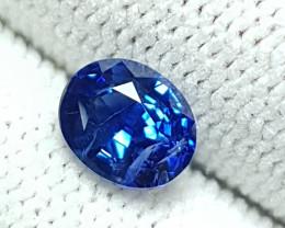 CERTIFIED 1.16 CTS NATURAL STUNNING ROYAL BLUE SAPPHIRE SRI LANKA