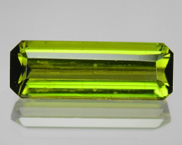 4.37 Cts UN HEATED GREEN COLOR NATURAL TOURMALINE LOOSE GEMSTONE