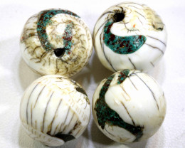 119 CTS SHELL BEADS ( 4 PCS)  ADG-285