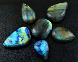 Genuine 334.00 Cts Blue Flash Labradorite Cab Lot