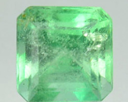 Natural Vivid Green Emerald Octagon Cut Colombia 0.32 Cts