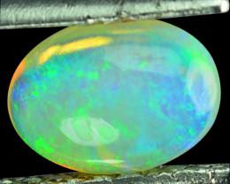 Flashing!!!  1.24 Cts Natural Multi-Color Play Opal Cabochon