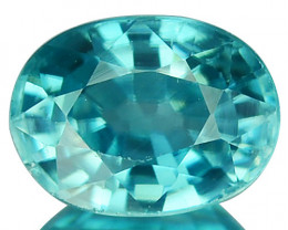 1.39 Cts Natural Sparkling Blue Zircon Oval Cut Cambodia
