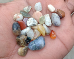 100 Carats Mixed Gemstones Tumbled 100% Natural & Untreated VA552