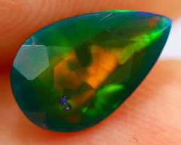 0.95cts Natural Ethiopian Smoked Faceted Black Opal / RD662