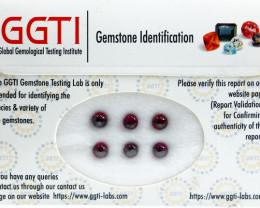 GGTI-Certified-4.10 ct Red Garnet Cabochon Gemstone Natural