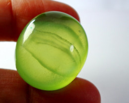 91.20 CTs Natural  Beautiful Green Prehnite Cabochon
