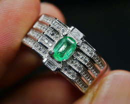 24.80 CT Natural Octagon Emerald Jewelry Ring