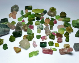 Amazing Natural max color rough Tourmaline parcel 250Cts-A#14