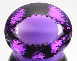 107.15 Cts Natural Purple Amethyst Oval Cut Bolivia
