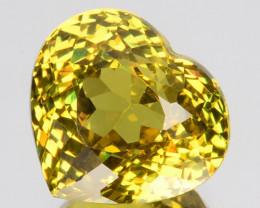 ~LOVELY~ 2.94 Cts Natural Mali Garnet Greenish Yellow Heart Cut Mali
