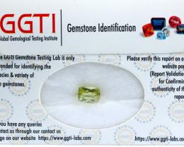 GGTI-Certified-3.25 ct Yellow Triphane Kunzite Gemstone Natural