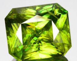 ~SPARKLING~ 9.05 Cts Natural Radium Green Sphene Radiant Cut Russia ~FLASHI