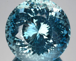 25.35Ct Natural Blue Aquamarine Fine round cut Brazil